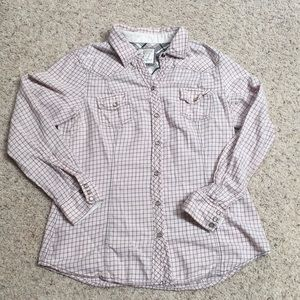 Womens XL old navy western style button down shirt
